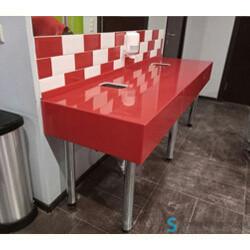 Сантехнические столешницы в общественный туалет в Екатеринбурге